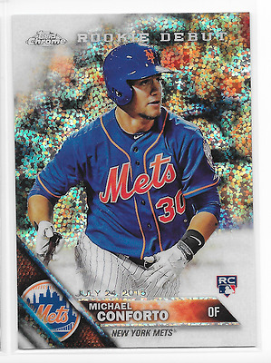 Michael Conforto 2016 Topps Chrome Update Sparkle Refractor RC HMT43