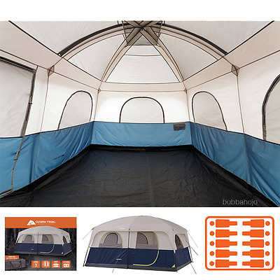 Ozark 10 Person Tent Trail Camping Cabin Family 14 x 10  Insulated Waterproof