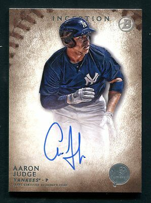 AARON JUDGE 2015 BOWMAN INCEPTION ROOKIE AUTOGRAPH NEW YORK YANKEES SP RC AUTO