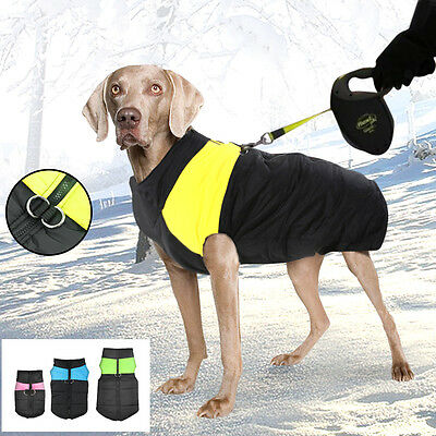 Waterproof Small Large Pet Dog Clothes Winter Warm Padded Coat Pet Vest Jacket