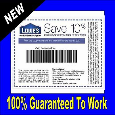 ONE LOWES 10 Off Purchase In-Store - Online  GET IT FAST  Real