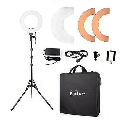 12 180Pcs LED Ring Light Dimmable 5500K for SmartPhoneCamera with Light Stand