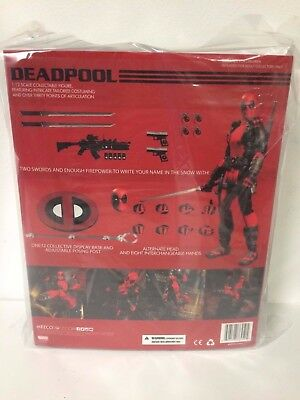 IN HAND MEZCO TOYZ DEADPOOL RED VERSION ONE12 COLLECTIVE FIGURE