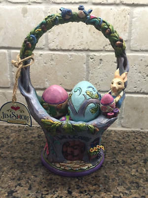 Jim Shore Welcome the Art of Easter Basket Eggs Rare NEW