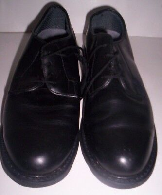 Mens Bates Leather Oxford Shoes Size 9 12 M Black  Band  Occupational