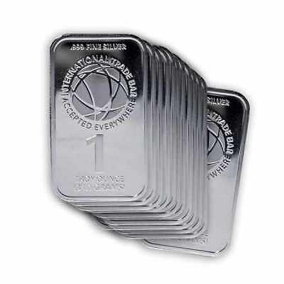 Lot of 20 - 1 oz Silver International Trade Bullion ITB Bar