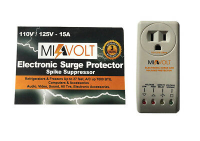 Refrigerator 1800W Voltage Brownout Appliance Surge Protector 3-Years Warranty
