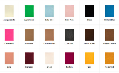 Soft Felt Sheet 1 or 2 mm Various Solid Colors 9x12 New Per SheetFree Ship