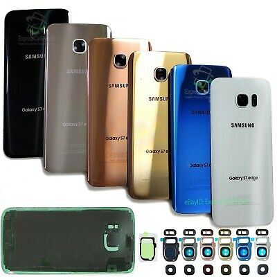 For Samsung Galaxy S7S7 Edge Replacement Back Glass Cover-Camera Part-IP68 Tape
