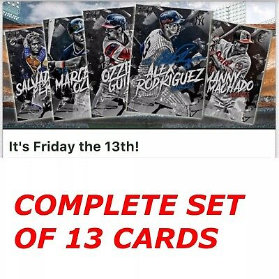 FRIDAY THE 13TH COMPLETE SET OF 13 CARDS Topps Bunt Digital Card