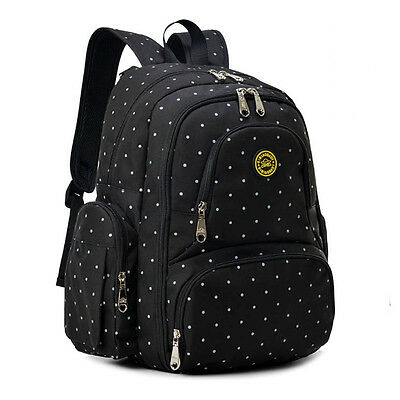 Oxford Baby Diaper Bag Nappy Backpack Change Pad Insulation Pocket Fit Stroller