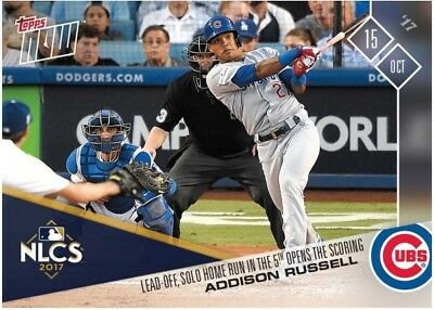 2017 Topps NOW MLB 765 Addison Russell Lead-Off Solo Home Run in the 5th