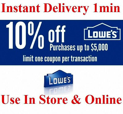 TWO 2 Lowes 10 OFF Printable Lowes STORE-ONLINE exp-1130 FAST DELIVERY 1 min