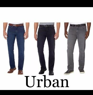 Urban Star Mens Stretch Relaxed Fit Straight Leg Jean-