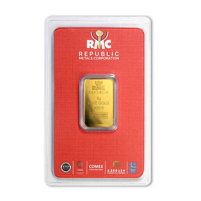 5 gram Gold Republic Metals Corp- RMC Bar