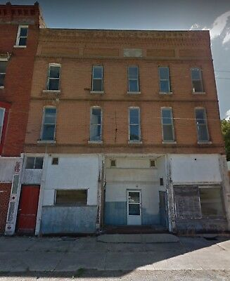 3 Story  Brick Commercial Building for sale with NO RESERVE in ILLINOIS