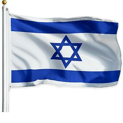 USA SELLER 3 x 5 ft Polyester Israeli Flag Israel High Quality Outdoor Indoor