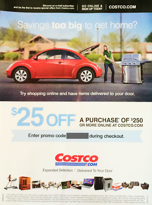 COSTCO 25 off 250 or more Online Order-  EMAIL only