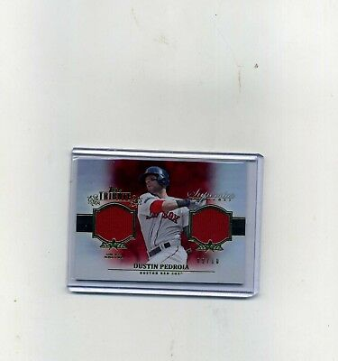 2013 Topps Tribute Dustin Pedroia Gold Dual Superstar Swatches 910