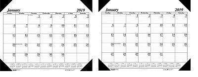 2018 - House of Doolittle Workstation Size Monthly Desk Pad Calendar 18 12x13