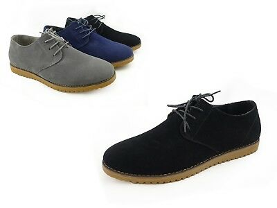 Aldo Bellini Mens Suede Upper Dressy Casual Shoes Lace Up Oxford