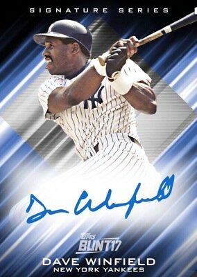 2017 LEGEND SIGNATURE SERIES BASE DAVE WINFIELD Topps Bunt Digital Card