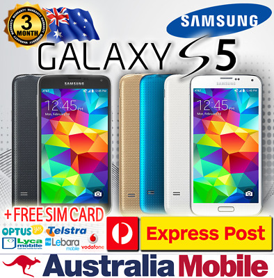 AS NEW EXCELLENT CONDITION SAMSUNG GALAXY S5 32GB - 128GB UNLOCKED 4G LTE FREE