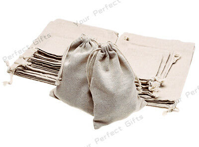 Lot of 2550100 Wedding Hessian Burlap Jute Favor Gift Bags Drawstring Pouch