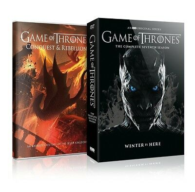 Game of Thrones The Complete Season 7 Seven DVD 2017 4-Disc Kings Queens New