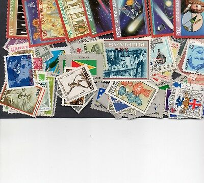 100 Different Worldwide Stamps With No Common 1-00 See Details