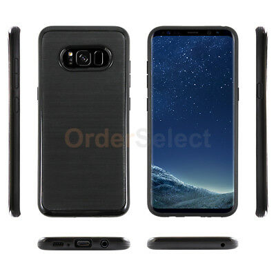 For Samsung Galaxy S8 Case Brushed Shockproof Slim Hard Rubber Plastic Cover
