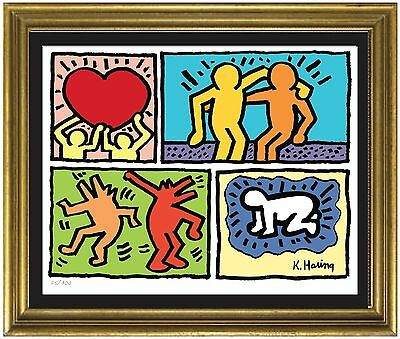 Keith Haring Signed - Hand-Numbered Limited Edition Lithograph Print unframed