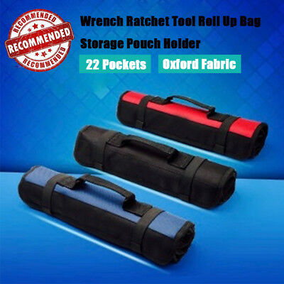 Roll Up Portable Tool Bag Storage Repairing Screwdriver Wrench Electrician Pouch