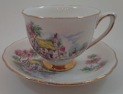 Colclough cup and saucer thatched cottage cup and saucer