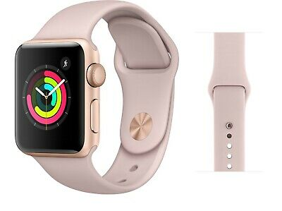 Apple Watch Series 3 38MM GPS Gold with Pink Sport Band MQKW2LLA