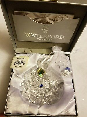 NEW 2017 WATERFORD CRYSTAL WISHES COBALT FRIENDSHIP ORNAMENT - LIMITED EDITION