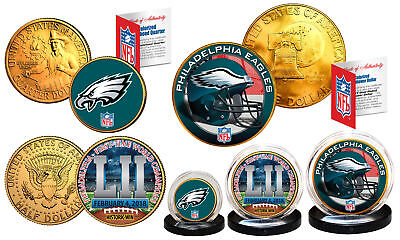 Super Bowl LII 52 NFL Champions PHILADELPHIA EAGLES 3-Coin Set  Philly Themed