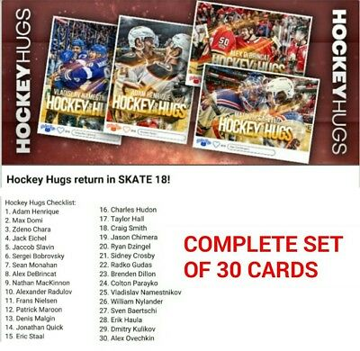 2018 HOCKEY HUGS COMPLETE SET OF 30 CARDS Topps NHL Skate Digital Card