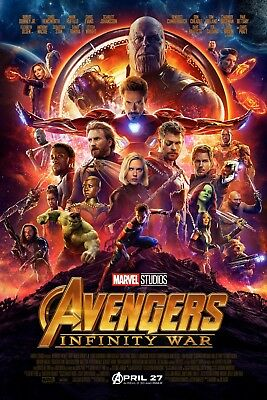 The Avengers Infinity War Movie POSTER 2018 Sci-fiAction 24x36 inches