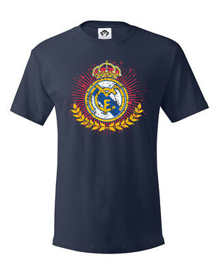 Real Madrid FC Soccer Football Champions League Graphic Tee Mens T-shirt