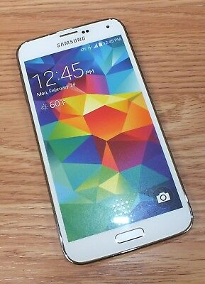 Samsung Galaxy S5 White Smartphone Style Fake Screen Dummy Display Phone READ