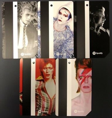 David Bowie Metro Card - Set of 5 - Limited Edition MTA NYC MetroCard Ships Now