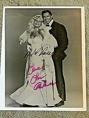 ARNOLD SCHWARZENEGGER And LONI ANDERSON AUTOGRAPHED 8x10 JAYNE MANSFIELD PHOTO