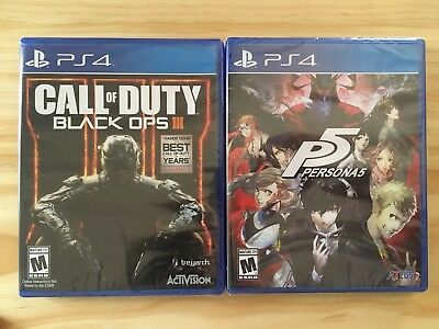 Persona 5 P5 Call of Duty Black Ops 3 game lot ps4 SEALED NEW