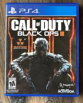 Call of Duty Black Ops III 3 Sony PlayStation 4 PS4 2015