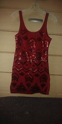 Wet Seal red sequen dress size L