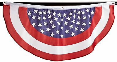 PATRIOTIC BUNTING AMERICAN FLAG 4TH OF JULY STARS - STRIPES 4 LONG 48 X 20 USA