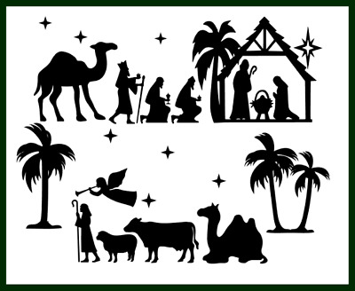 Large Christmas Nativity Scene Set Die Cut Embellishment Crafts Scrapbook