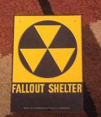 Fallout shelter sign original 1960s- 10 X 14-  Loc Number 2