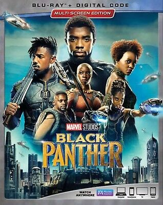 BLACK PANTHERBLU-RAY-DIGITAL HDWITH SLIP COVER NEW